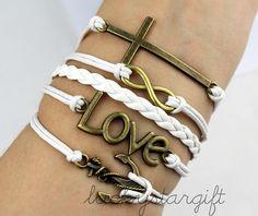 Bronze crosses infinite infinite love cool & by luckystargift, $6.19