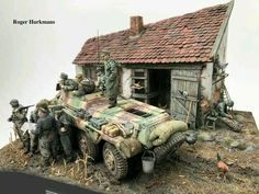 For a while i have been working on a diorama which depict a unit from ss. AA 12 Hitlerjugend in Hungary march A farmer is explaining where the Army Vehicles, Armored Vehicles, Armored Car, Lead Adventure, D Day Normandy, Fantasy Model, Modeling Techniques, Military Modelling, Ww2 Tanks