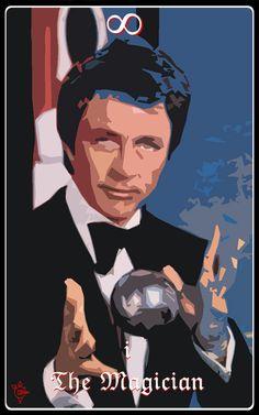 Tarot MMVI - I The Magician. Bill Bixby as The Magician.