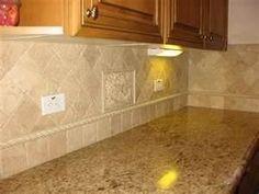 New Ideas For Kitchen Backsplash Travertine Oak Cabinets Kitchen Cabinets And Backsplash, Oak Cabinets, Kitchen Backsplash, Backsplash Ideas, Paint Backsplash, Countertop Redo, Travertine Backsplash, Herringbone Backsplash, Granite Kitchen