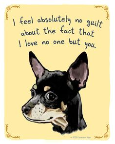 Black Chihuahua 5x7 Print of Original Painting by tinyconfessions