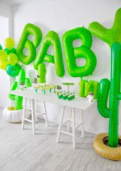 cactus themed desert bloom baby shower by kara allen kara's party ideas for … Cadeau Baby Shower, Idee Baby Shower, Fiesta Baby Shower, Baby Boy Shower, Shower Party, Baby Shower Parties, Baby Shower Themes, Shower Ideas, Mexican Theme Baby Shower