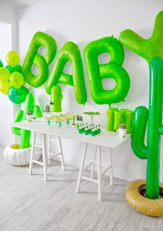 Cactus themed desert bloom baby shower by kara allen | kara's party ideas for oriental trading blog