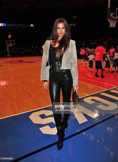 Irina Shayk attends the Philadelphia 76ers vs the New York Knicks game at Madison Square Garden on January 11, 2012 in New York City.