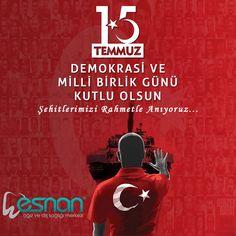 15 Temmuz Demokrasi ve Milli Birlik Gününü Kutluyoruz. Tüm Şehitlerimize Allah'tan Rahmet Diliyor, Gazilerimize Minnet ve Şükran Duygularımızı Sunuyoruz... #15temmuz #esnan