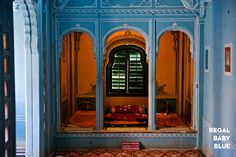 Doors and window at City Palace Museum, Udaipur. India