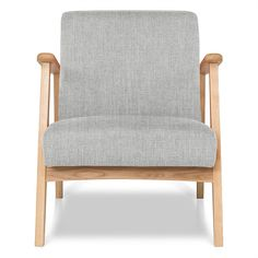 (Oak Frame) Light Grey Den Armchair | freedom