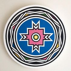 View this item and discover similar for sale at - Esther Mahlangu (b. is a South African artist from the Ndebele nation. She learned mural painting from her mother and grandmother at a young age, South African Design, South African Artists, Tribal Patterns, African Patterns, Africa Symbol, Contemporary African Art, African Crafts, Mural Painting, Aboriginal Art