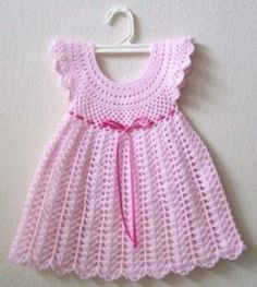 Crochet Dress Girl, Crochet Baby Dress Pattern, Black Crochet Dress, Baby Dress Patterns, Baby Girl Crochet, Crochet Baby Clothes, Crochet Dresses, Crochet Patterns, Knit Dress