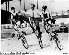 Trick bike riding in the 1920's