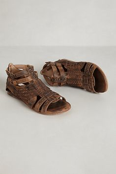 Claire Teak Gladiators #anthropologie Gotta love Anthro~ especially when they name cute sandals after you!
