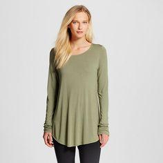 Women's Long Sleeve Textured Crew Neck T-Shirt - Mossimo : Target