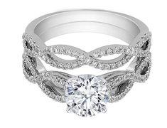 Infinity Bridal Set: Engagement Ring
