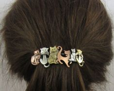 The Ultimate Holiday Gift Guide For Cat Ladies for the love of cats this cute barette hair clip is a really nice way to show your allegiance to the feline side of the force cat lovers Cat Jewelry, I Love Jewelry, Jewellery, Crazy Cat Lady, Crazy Cats, Crazy Dog, Hair Barrettes, Hair Clips, Cat Hair