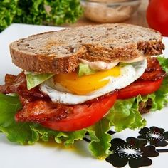 Avocado BLT with Fried Egg and Chipotle Mayo. Huge hit today I will make these over and over. I pulled cooked bacon out of the freezer and so this was a very quick meal.