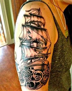Awesome Pirate Ship Tattoo Designs For All Tastes!
