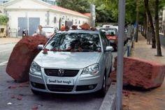 Volkswagen Polo guerilla campaign: small, but tough.