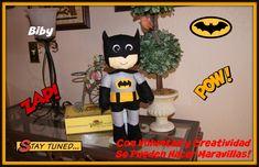 BATMAN EN FIELTRO TUTORIAL Felt Crafts Diy, Toilet Paper Roll Crafts, Paper Crafts, Diy For Kids, Gifts For Kids, Felt Doll Patterns, Painting Activities, Felt Dolls, Craft Party