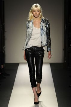 must recreate someway somehow...the balmain bleached denim and studded jacket.