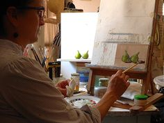 End of August Paintings means painting figs & prunes in Umbria, Italy.