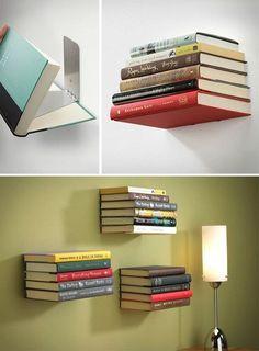 An Invisible Bookshelf #AwesomeDiy