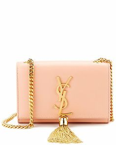 """Some of you have to get in on this: Saint Laurent Small """"Cassandre"""" Tassel Leather Shoulder Bag"""