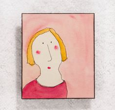 June (#1036)  Signed original from Faces Ive Seen $20 on Etsy | #CarlaSonheim
