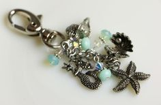 Keychain+Purse+Clip+Pewter+Beach+Charms+Pacific+by+PinaforeLane,+$20.00