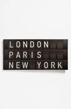 This would also look cute in the office / Departure Board Wall Art available at #Nordstrom