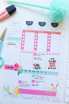 Plan with Me Easter Theme Planner Layout, Blog Planner, Weekly Planner, Happy Planner, Easter Stickers, Best Planners, Planner Decorating, Easter Colors, Coordinating Colors