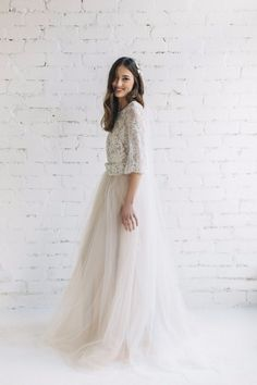 Nude wedding dress See more here: https://jurgitabridal.com/collections/bridal-attire/products/bohemian-wedding-dress-peony