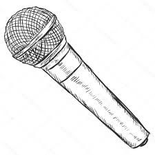 Hello Friends How Are Youtoday S Sketch Of Microphone Drawing Just Like Every Day You Look At This Picture Carefully Microphone Drawing Easy Drawings Drawings