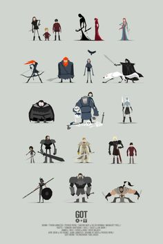 Les illustrations minimalistes de Game of Thrones par Jerry Liu Game Of Thrones Tattoo, Got Game Of Thrones, Game Of Thrones Funny, Game Of Thrones Posters, Game Character Design, Character Concept, Character Art, Got Characters, Vector Characters