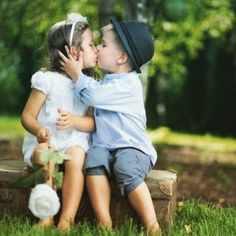 Cute couple of children kissing each other. Cute couple of kids kissing each other. Kids In Love, Cute Kids, Cute Babies, Cute Baby Couple, Cute Couples, Baby Kind, Baby Love, Big Bisous, Kids Kiss