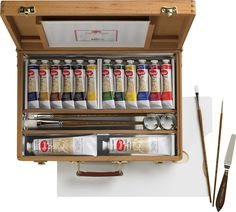 Save On Discount Utrecht Artists' Acrylic Paint Set, Deluxe Wood Box Kit & More Colors at Utrecht