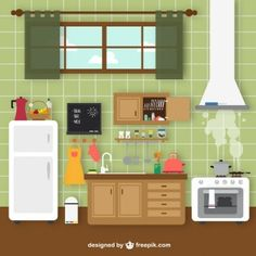 cozinha vintage retro desenho - Pesquisa Google