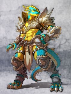 Bright colours, great armour design