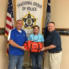 This evening Jennifer Mosier wife of member Brian Mosier presented the lodge with a first aid / trauma bag for our use. Thanks for thinking of the lodge and providing us with this! @scfop3  #scfop3 #3hasyour6