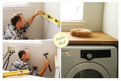 Butcher block over washer and dryer - that doesn't seem so hard! by eddie