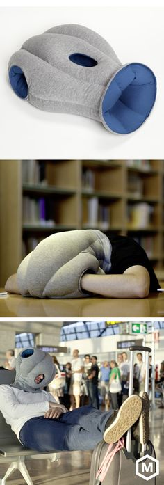 Ostrich Pillow...cocoon-like nap pillow. Both my husband and I really, really want one of these (each).
