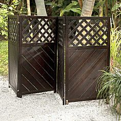 The lattice privacy screen, to make your yard neater and hide something unsightly...