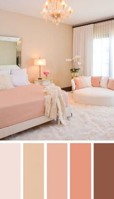 Creative Ways To Living Room Color Design Ideas You will observe the way the room will get bigger. Painting the living room is a substantial investment. Your living room takes up quite a f Next Bedroom, Home Decor Bedroom, Bedroom Wall, Room Color Ideas Bedroom, Bedroom Furniture, Coral Bedroom, Girls Bedroom, Furniture Ideas, Peach Bedroom