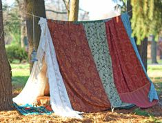 Boho meditation vintage Gypsy patchwork lace by TheLookFactory