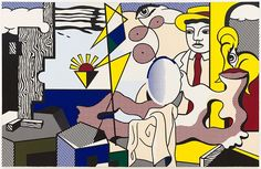 Roy Lichtenstein, Figures with Sunset, 1978; The Doris and Donald Fisher…
