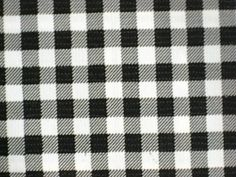 Black Gingham Check Country Picnic Oilcloth Vinyl Sewing Craft Decor Fabric  Bty