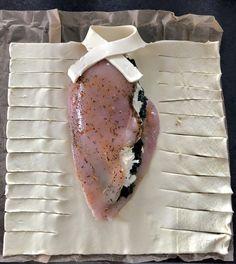 Faszerowany filet z kurczaka zapiekany w cieście francuskim - Blog z apetytem