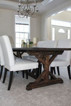 X Leg Style Farmhouse Table Kitchener Waterloo Area Image 1