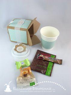 Stampin Up Demotreffen Geschenk Verpackung Punch Board Kaffeebecher Coffee to Go Blumen Geburtstagskracher 01