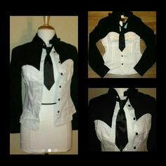 Black & White Top 97% cotton 3% spandex. Size medium but can also fit a small. Nwt. never worn Tops Blouses