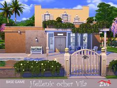 Sims Community, Electronic Art, Sims 4, Improve Yourself, Greek, Mansions, House Styles, Manor Houses, Villas